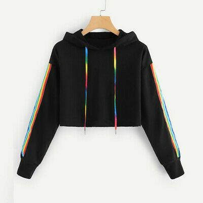 Product name: Tape Detail Hooded Sweatshirt at SHEIN, Category: Sweatshirts
