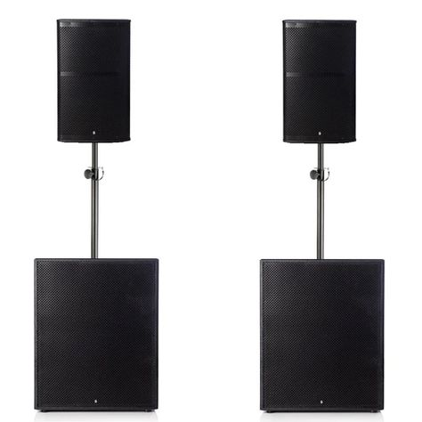"""Big Gig Rig 7 - Passive 3000w RMS 12"""" Tops and 18"""" Plywood Subwoofer PA System"""