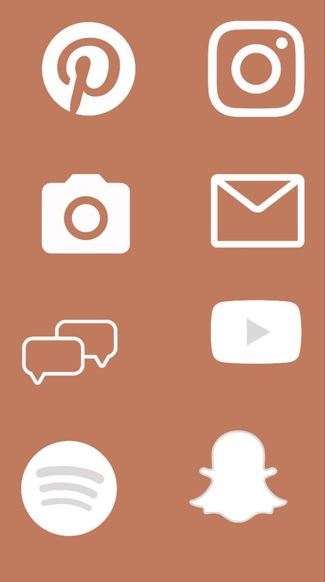 ios 14 home screen Boho Orange App Covers