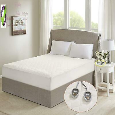 Sunbeam Slumber Rest Premium Heated Quilted Bed Electric Mattress Pad QUEEN SIZE