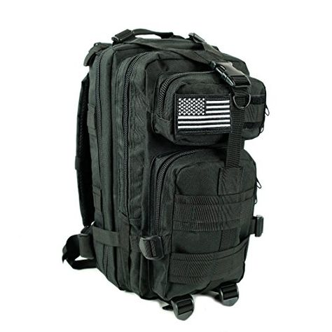 Army Military Day Pack Combat Bag Over Shoulder Travel Rucksack Grey Molle New