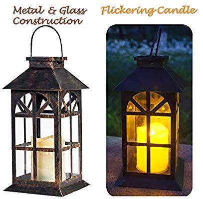 Amazon Com Solar Lantern Outdoor Classic Decor Bronze Antique