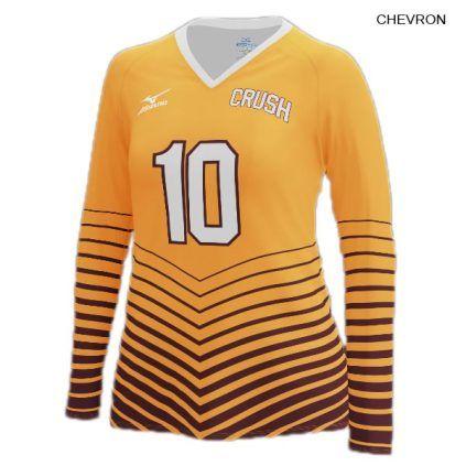 Mizuno Women S 440380 Custom Sublimated Long Sleeve Jersey Women Volleyball Long Sleeve Jersey Volleyball Uniforms