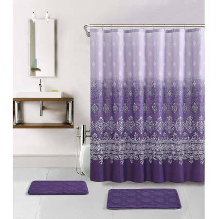 Spectacular Walmart Bathroom Sets 20 For Home Decorating Ideas With Walmart Bathroom Sets Purple Shower Curtain Purple Bathroom Decor Purple Bathrooms