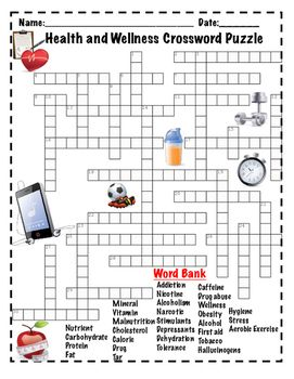 Health And Wellness Crossword Puzzle By Brighteyed For Science Tpt Aprender Ingles Ingles