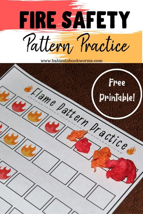 Teach kids about fire safety with this children's book about fire trucks and this fine motor pattern practice activity! Fire Safety For Kids, Fire Safety Crafts, Fire Safety Week, Child Safety, Preschool Fire Safety, Play Based Learning, Learning Through Play, Fun Learning, Learning Activities