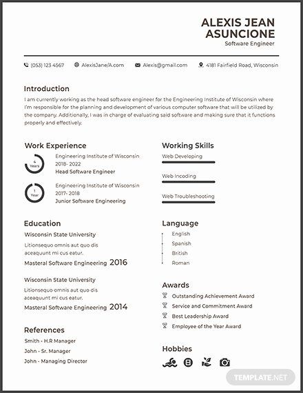 Resume For Google Software Engineer Awesome Free Software Quality Engineer Cv Template Download 200 Resume Templa Software Engineer Resume Software Cv Template