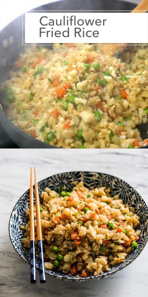 Healthy Chicken Cauliflower Fried Rice