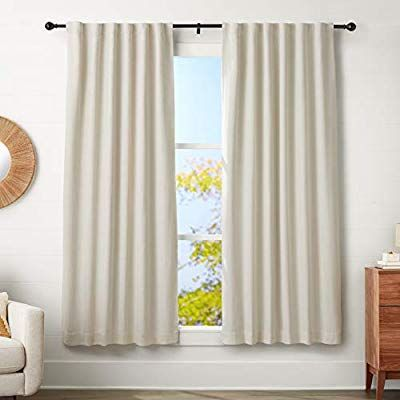 Amazon Com Amazonbasics 1 Double Curtain Rod With Cap Finials