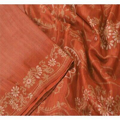 Vintage Saree Women Wear 100/% Pure Silk Saree Fabric 5 Yard Silk Sari