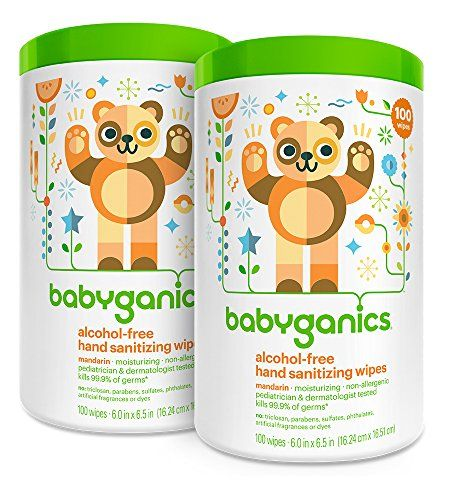 Introducing Babyganics Alcohol Free Hand Sanitizer Wipes Mandarin