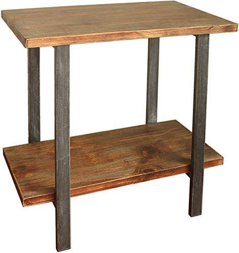 Beautiful Barnyard Designs 2 Tier End Table Rustic Solid Pine