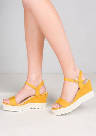 b34ba27691e Faux Suede Platform Braided Cork Wedge Espadrille Sandals Mustard Yellow in  2019 | Kim - Accessories | Espadrilles, Espadrille sandals, Sandals
