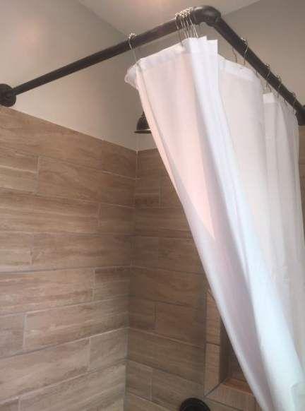 Bath Room Makeover Shower Curtain Rods 21 Ideas Bath Diy Bathroom Remodel Diy Shower Curtain Corner Shower Curtain Rod