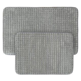 2 Piece Memory Foam Bath Mat Set By Windsor Home See Description
