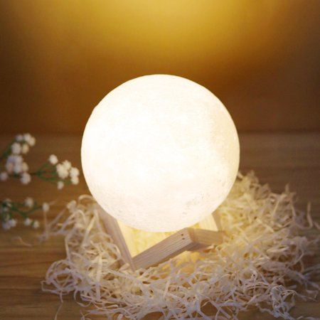Tsv 3d Printing Moon Led Lamp Night Light Smart Touch Switch Battery Powered Usb Charging 2 Modes Lunar Ta Home Decor Christmas Gifts Touch Lamp Novelty Lights