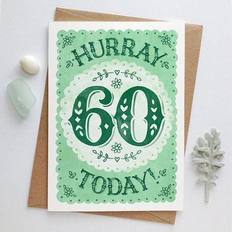 Celebrate Someones 60th Birthday With A Sweet Hand Painted Sixtieth