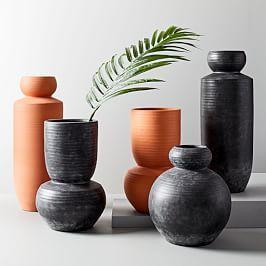 Rounded Terracotta Floor Vases Terracotta Floor Floor Vase Diy Vase
