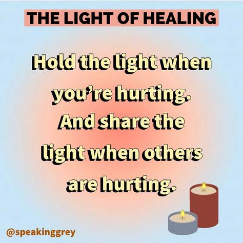 "Mental Health & Self-Care on Instagram: ""Hold the light and share the light. 🤍 Follow @speakinggrey for more! . . #healing #healingjourney #healinglight #communitycare…"""