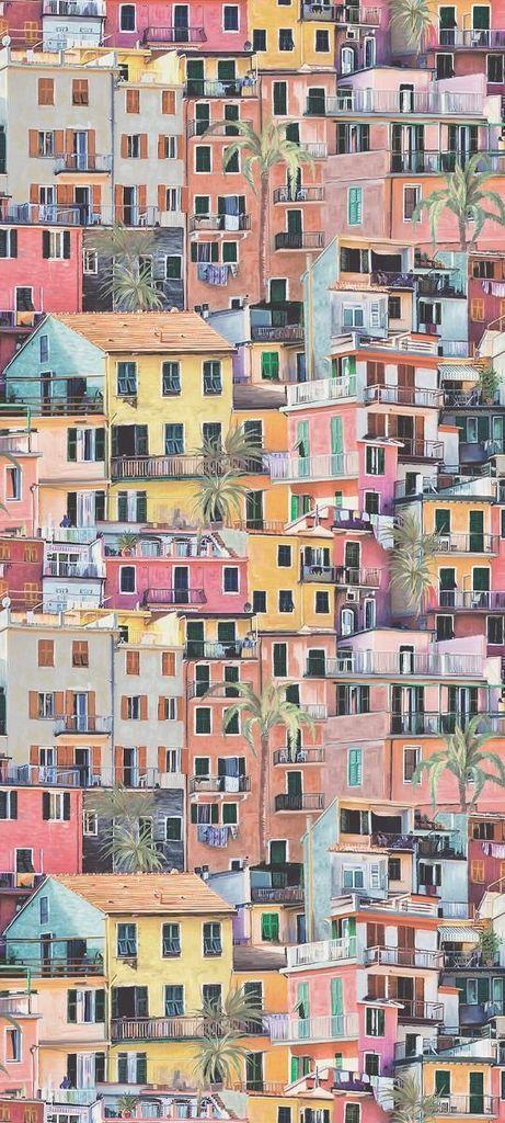 Portovenere Wallpaper in Multi-Color from the Manarola Collection by Osborne & Little at Burkedecor