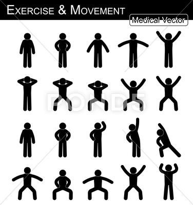 Exercise And Movement Move Step By Step Simple Flat Stick Man Vector Stock Illustration Ad Step Sim Person Icon Vector Stock Illustration Stick Man