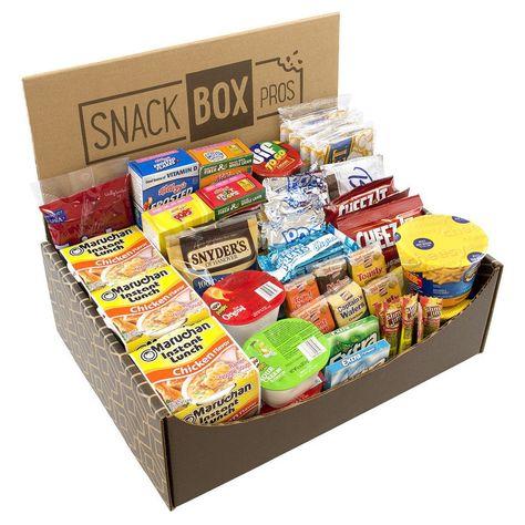 Dorm Room Survival Snack Box - image 1 of 1 Friend Birthday, Diy Birthday, Birthday Gifts, Birthday Ideas, Birthday Basket, Birthday Quotes, Best Friend Gifts, Gifts For Friends, Dorm Room Snacks