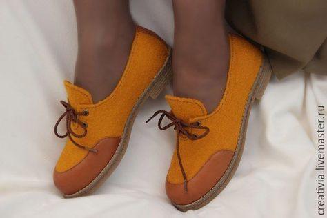Обувь ручной работы. Ярмарка Мастеров - ручная работа. Купить Туфли валяные  женские