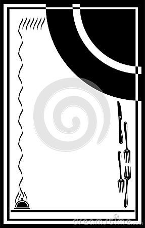Blank Template Of Menu Card Background With Frame A Cute And Fancy Page Frame For Restaurant Menu Cards Restaurant Menu Card Frame Template