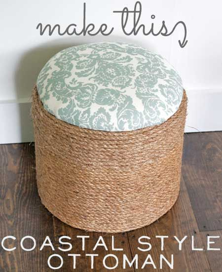 The Graphics Fairy - DIY: Make This: Coastal Style Rope Ottoman