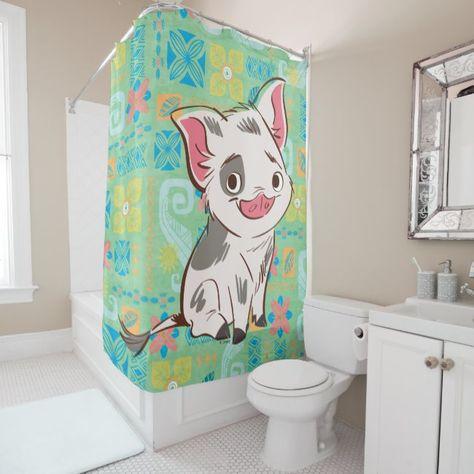 Moana Pua I M No Bacon Shower Curtain Zazzle Com Funny Shower Curtains Moana Pua Custom Shower Curtains