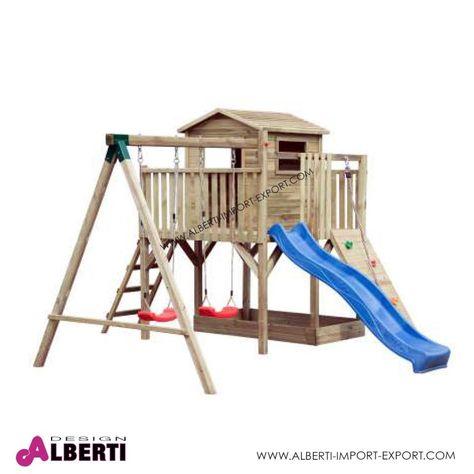 Parco Giochi In Legno Da Giardino 420x370xh250 Cm Bellissima