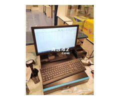 جهاز و برنامج نقاط بيع باركود من طيف الالماس للمتاجر و المحلات Computer Monitor Computer Industrial