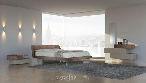 Camere Da Letto Moderne Con Comodini Sospesi.E Possibile Conciliare Modernita Ed Eleganza Con Elite Voltan