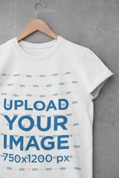 Download Placeit Mockup Of A Crewneck T Shirt Hanging By A Cement Wall In 2021 Shirt Mockup Free Mockup T Shirt