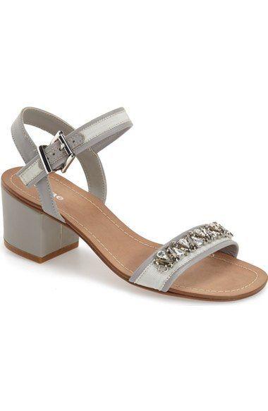 cf1eff4312c Nordstrom Heels - Dune London 'Maisie' Embellished Block Heel Sandal ...