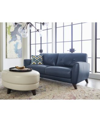Fine Myia 82 Leather Sofa And 62 Loveseat Set Created For Macys Short Links Chair Design For Home Short Linksinfo