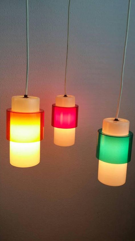 Colorful 60s Multi Light Pendant Chandelier Cascading Lamp