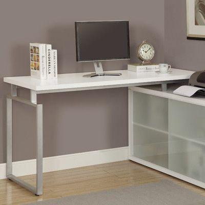 brayden studio cramer l shaped writing desk finish white products rh pinterest ca
