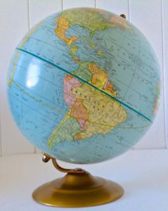 Vintage Collection Globe Terrestre Universel George F Cram Globe Vintage Universel