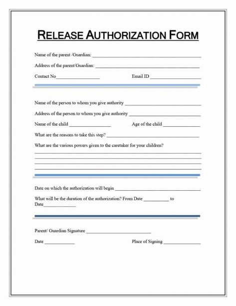40 Medical Release Form Template With Images Templates