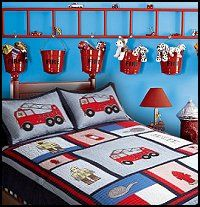 Loving The Ladder With The Pails Hanging Off It Could Be Cute For A Construction Themed Room As Well Or A Children Room Boy Fireman Room Big Boy Bedrooms