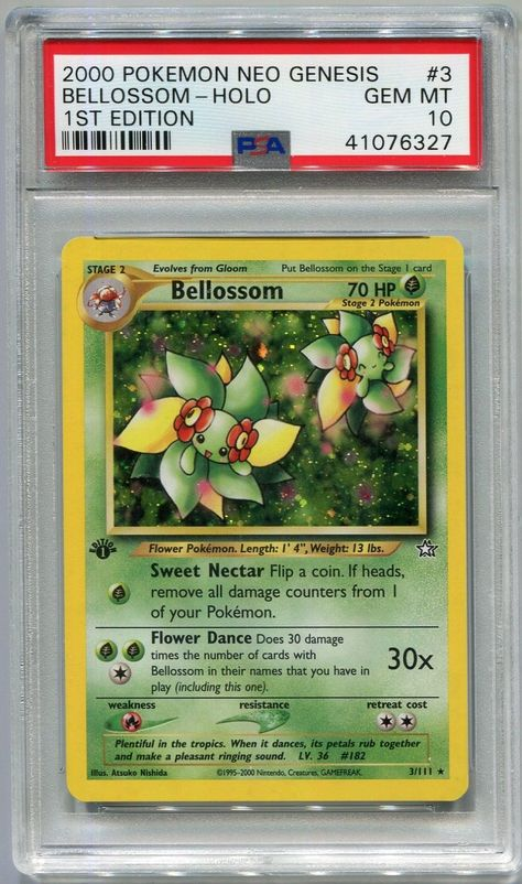 Bellossom Holo 1st Edition Near Mint Neo Genesis Pokemon 3//111