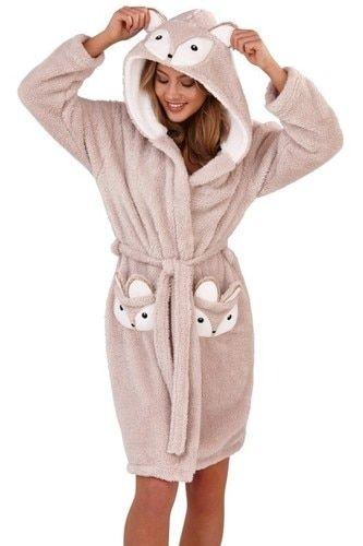 Men Women Super Soft Cosy Fleece Dressing Gown Robe Dressing Gown Hooded Warm