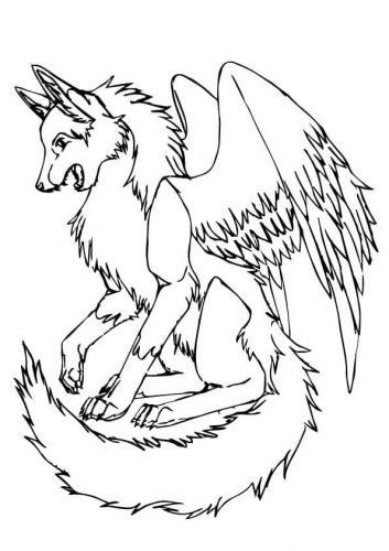 Cat With Wings Coloring Pages 25 Free Wolf Coloring Pages Printable Mermaid Coloring Pages Coloring Pages Dog Coloring Page