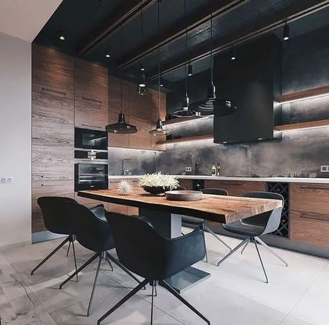 Loft Interior Design, Loft Design, House Design, Design Design, Design Table, Interior Designing, Contemporary Interior, Loft Apartment Decorating, Apartment Design