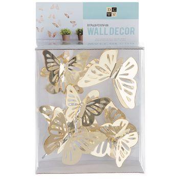 Gold Mirror Butterflies 3d Adhesive Wall Art Hobby Lobby 328872 In 2021 Adhesive Wall Art Butterfly Wall Decor Butterfly Wall