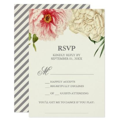 English Blooms Song Request Rsvp Card Zazzle Com Formal