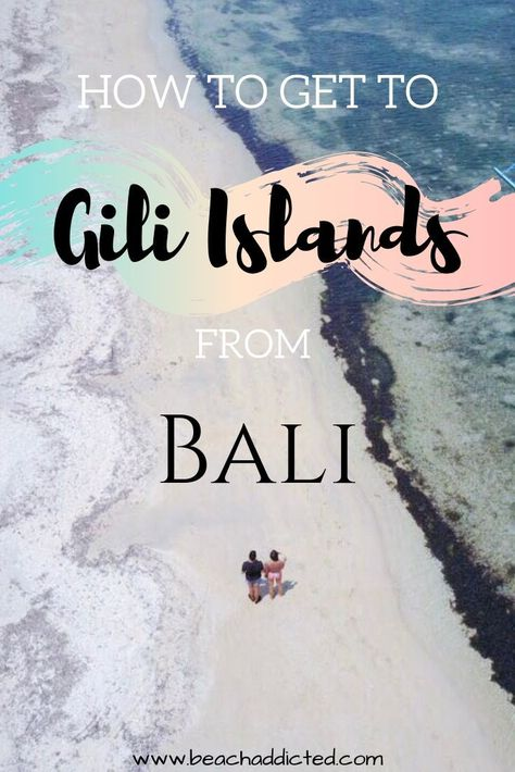 """The Gili Islands or simply the """"Gilis"""" are a destination for many travellers visiting Indonesia. It is also a very famous spot to visit when you are staying in Bali. Find out how to get to Gilis from Bali. Plus we are mentioning the best island guide for Gilis, things to do with snorkelling, diving, exploring awesome beaches and much more #bali#giliair#giliislands#indonesia#travel#indonesiantravel#islandguide"""