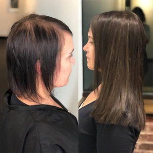 Pin By Stormy Giles On Hair Extensions Transformation Colored Hair Extensions Vivid Hair Color Love Hair