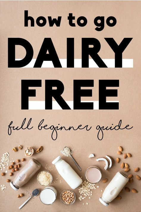 Going Dairy Free: Full Guide + Free Meal Plan - - Interested in going dairy-free but unsure about the benefits? This dairy-free diet guide for beginners offers alternatives, tips & a free diet plan. Dairy Free Soup, Dairy Free Cheese, Dairy Free Foods, Dairy Free Diet Benefits, Low Carb Granola, Buffalo Chicken Pizza, Weight Watchers Desserts, Dairy Free For Beginners, Lactose Free Recipes
